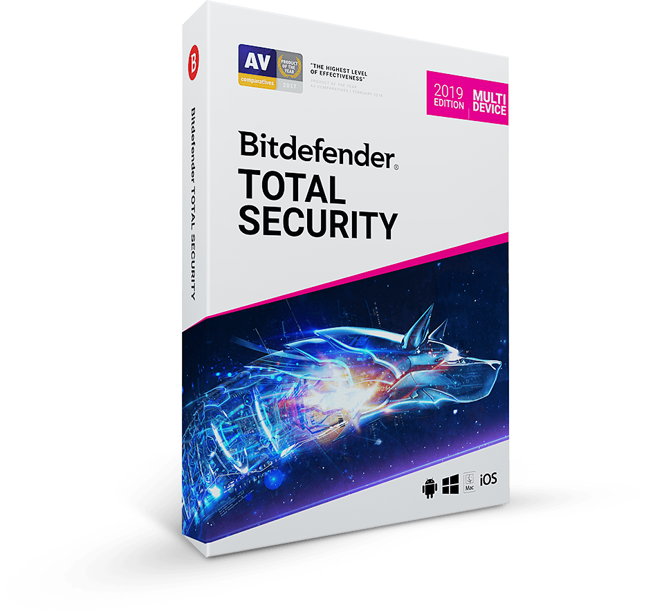 Антивирус Bitdefender Total Security 1 year 5 devices