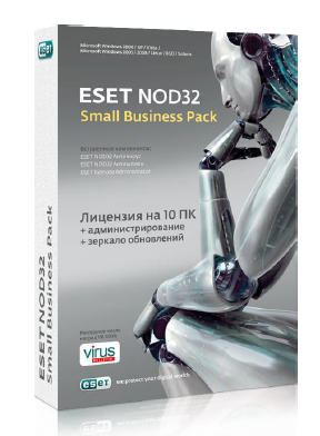 Антивирус ESET NOD32 Small Business Pack renewal for 10 users