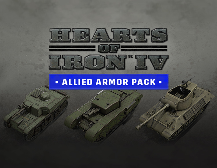 Игра Hearts of Iron IV Allied Armor Pack